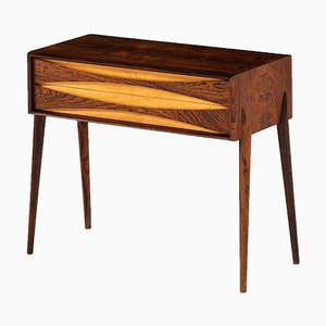 Swedish Rosewood Side Table by Rimbert Sandholdt for Glas & Trä Hovmantorp, 1950s