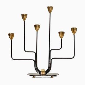 Schwedischer Kerzenständer von Gunnar Ander für Ystad Metall, 1950er