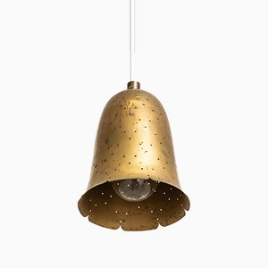 Swedish Brass Ceiling Lamp from Boréns, 1950s