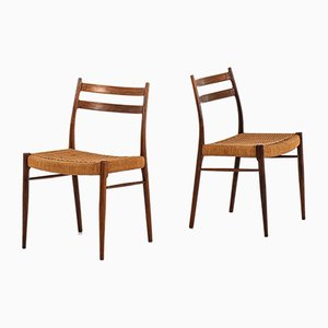 Rosewood Model GS-70 Dining Chairs by Arne Wahl Iversen for Glyngøre Stolefabrik, 1960s, Set of 6