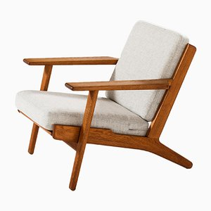 Danish Model GE-290 Easy Chairs by Hans J. Wegner for Getama, 1960s, Set of 2