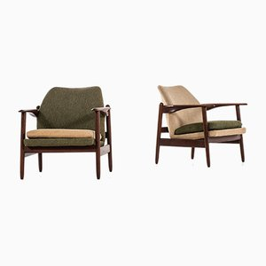 Danish Easy Chairs, 1960s, Set of 2
