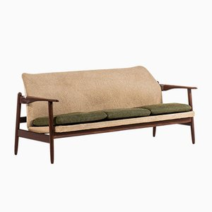 Danish Teak & Fabric Sofa, 1960s