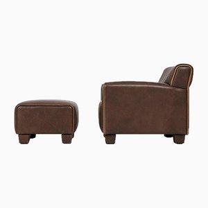 Schweizer Sessel mit Hocker von De Sede, 1960er, 2er Set