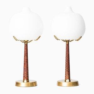 Lampes de Bureau Modèle 700 par Hans Bergström pour Ateljé Lyktan, 1940s, Set de 2
