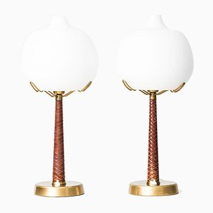 Model 700 Table Lamps by Hans Bergström for Ateljé Lyktan, 1940s, Set of 2