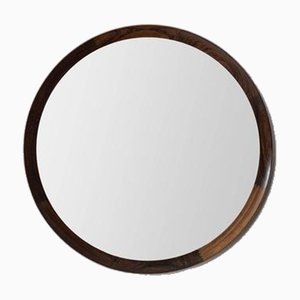 Swedish Rosewood Mirror by Uno & Östen Kristiansson for Luxus, 1950s