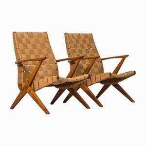 Swedish Lounge Chairs by Bengt Ruda from Nordiska Kompaniet, 1950s, Set of 2