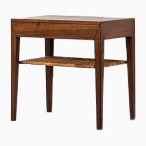 Table de Chevet par Severin Hansen pour Haslev, Danemark, 1950s