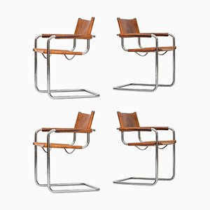 Italian Rosewood Armchairs by Mart Stam for Fasem, 1960s, Set of 4