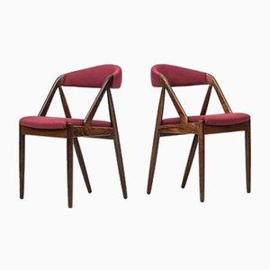 Chaises de Salle à Manger par Kai Kristiansen pour Schou Andersen, 1960s, Set de 8