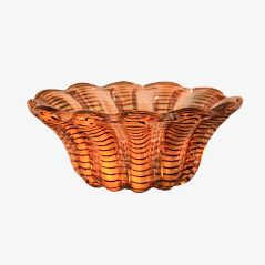 Zebrato Murano Glass Bowl by Ercole Barovier for Barovier, 1950s