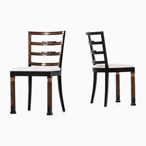 Chaises de Salle à Manger par Erik Chambert pour Chamberts Möbelfabriker, 1930s, Set de 18
