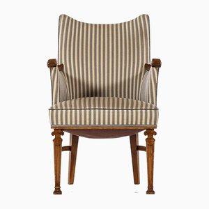 Chaise de Bureau en Noyer par Carl Malmsten, 1940s