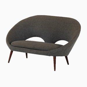 Sofa aus Gebeizter Buche & Stoff, 1950er