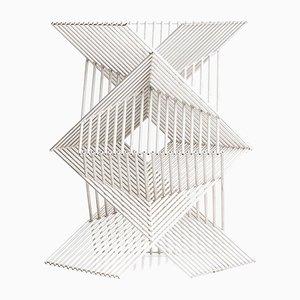 Escultura Herlow de aluminio en relieve de Bertil Herlow Svensson, 1967