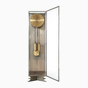 Modernist Steel & Glass Grandfather Clock, 1930s
