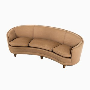 Large Swedish Curved Sofa by Otto Schulz for Boet, 1930s