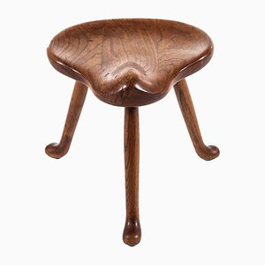 Swedish Oak Stool by Josef Frank for Svenskt Tenn, 1930s