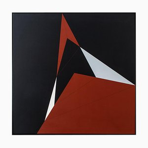 Desargues, Configuration X Oil Painting by Steffen Jørgen, 1979