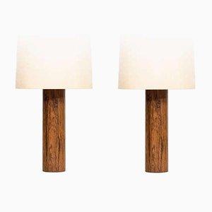 Lampes de Bureau en Palissandre, 1960s, Set de 2