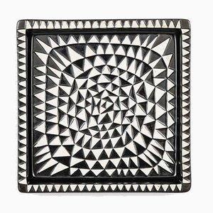 Schwedisches Keramik Modell Domino Tablett von Stig Lindberg für Gustavsberg, 1950er