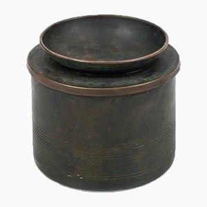 Schwedischer Tabakbehälter aus Bronze von Nils Fougstedt für FAK, 1940er