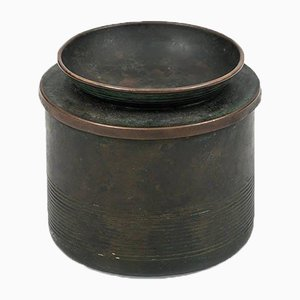 Swedish Bronze Tobacco Jar by Nils Fougstedt for FAK, 1940s