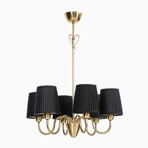 Swedish Brass Ceiling Lamp by Hans Bergström for Ateljé Lyktan, 1950s