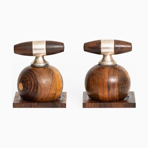 Rosewood Salt and Pepper Mills by Richard Nissen for Nissen, 1950s, Set of 2