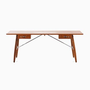 Danish Rosewood JH-571 Desk by Hans J. Wegner for by Johannes Hansen, 1953
