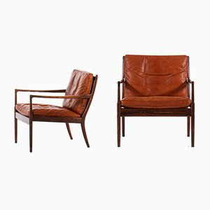 Swedish Model Samsö Lounge Chairs by Ib Kofod-Larsen for OPE, 1950s, Set of 2