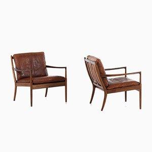 Schwedische Modell Samsö Sessel von Ib Kofod-Larsen für OPE, 1950er, 2er Set