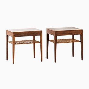 Tavolini di Severin Hansen per Haslev, Danimarca, anni '50, set di 2