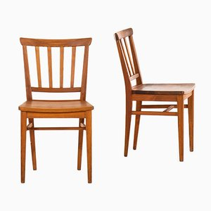 Swedish Dining Chairs by Carl Malmsten for Karl Andersson & Söner, 1940s, Set of 4