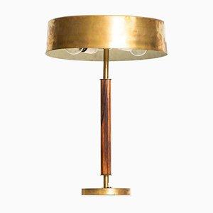 Lampe de Bureau en Palissandre et Laiton de Borens, Suède, 1960s