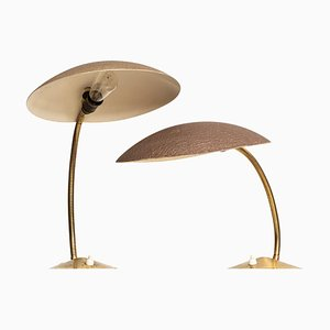 German Table Lamps with Flexible Arms, 1960s, Set of 2