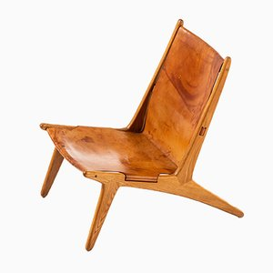 Swedish Hunting Chair by Uno & Östen Kristiansson for Luxus, 1950s