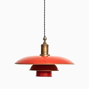 Lampada da soffitto PH-4/3 di Poul Henningsen per Louis Poulsen, Danimarca, 1926