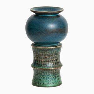 Vaso grande in ceramica di Stig Lindberg per Gustavsberg, Svezia, anni '60