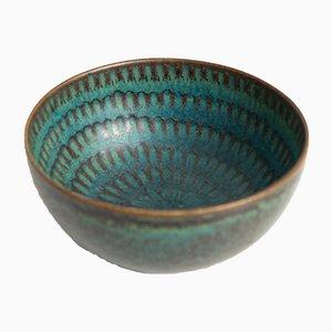 Scodella in ceramica di Stig Lindberg per Gustavsberg, Svezia, anni '60