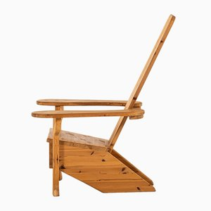 Solid Pine Easy Chair, 1980s
