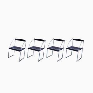 Vintage Esszimmerstühle von Francesco Soro für ICF De Padova, 4er Set
