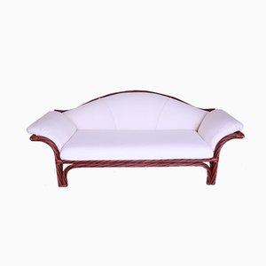 Mid-Century Bamboo Sofa