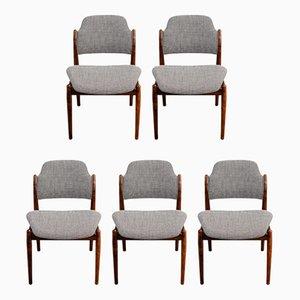 Palisander No. 62 Esszimmerstühle von Arne Vodder für Sibast, 1960er, 5er Set