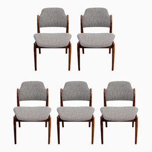 Rosewood No. 62 Dining Chairs by Arne Vodder for Sibast, 1960s, Set of 5