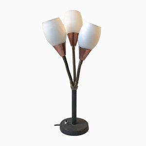 Lámpara de mesa con tres pantallas de ES Horn, años 50