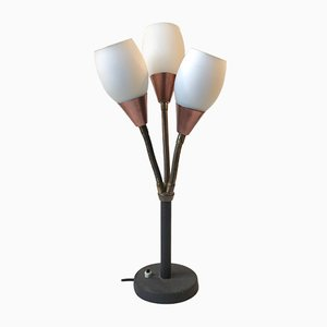 Lampe de Bureau Three Shade d'E. S. Horn, années 50