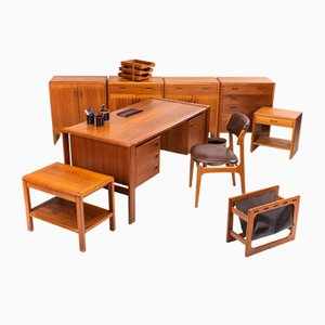 Danish Office Set, 1960s, Set of 11