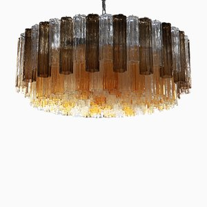 Vintage Murano 2-Tier Chandelier with Tronchi Elements
